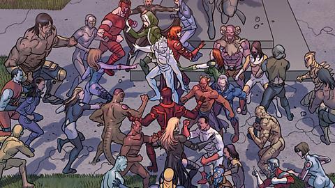 Harry Potter, Vegeta và những nhân vật nổi tiếng từng xuất hiện trong vũ trụ Marvel và DC - Ảnh 6.