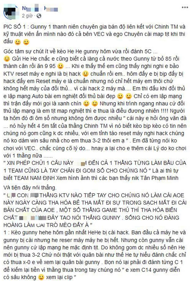Làng AoE Việt Nam rúng động vì nghi án bán độ mới - Ảnh 1.