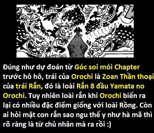 Góc soi mói One Piece 933: Mỗi đầu rắn của Orochi có một đặc điểm riêng, xuất xứ Komurasaki liên quan tới gia rộc Kozuki? - Ảnh 2.