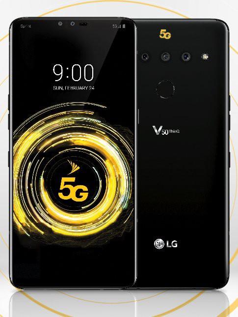 LG V50 ThinQ lộ diện: Tai thỏ, 3 camera sau, hỗ trợ mạng 5G, ra mắt 24/2 - Ảnh 1.