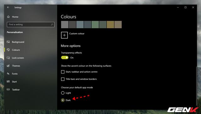 Cách thiết lập Windows 10 tự động chuyển sang giao diện nền tối mỗi khi chiều về - Ảnh 1.