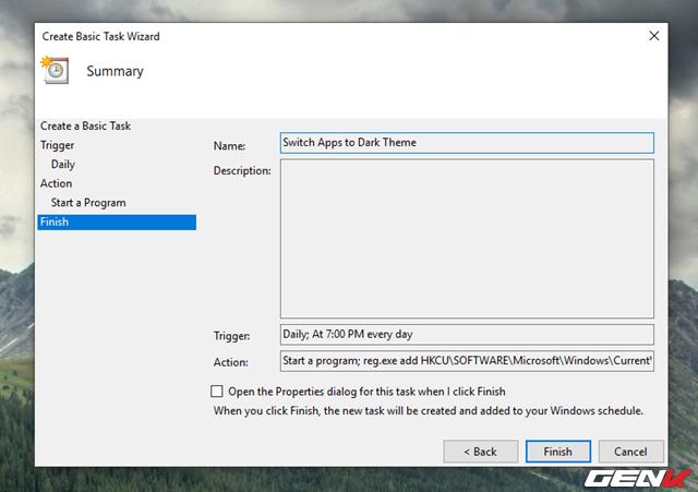 Cách thiết lập Windows 10 tự động chuyển sang giao diện nền tối mỗi khi chiều về - Ảnh 9.
