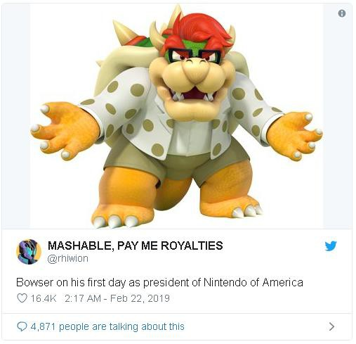 """Nintendo bổ nhiệm ông Bowser """"trùm cuối trong Mario"""" làm Chủ tịch cấp cao mới - Ảnh 3."""