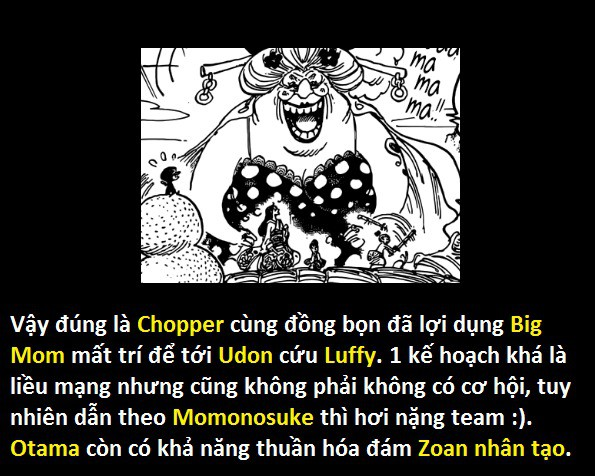 One Piece 934: Chopper thao túng Big Mom tới Udon cứu Luffy - Hé lộ nhân vật Yakuza bí ẩn đứng đầu Wano ngày trước - Ảnh 5.