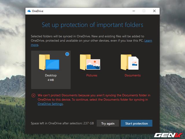 Cách kích hoạt tính năng Folder Protection trong OneDrive của Windows 10 - Ảnh 5.