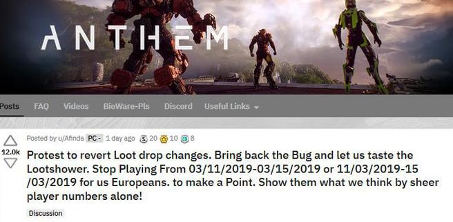 Tung cập nhật làm giảm tỷ lệ rơi đồ, nhà phát triển game Anthem bị cộng đồng dọa nghỉ chơi cả tuần - Ảnh 2.
