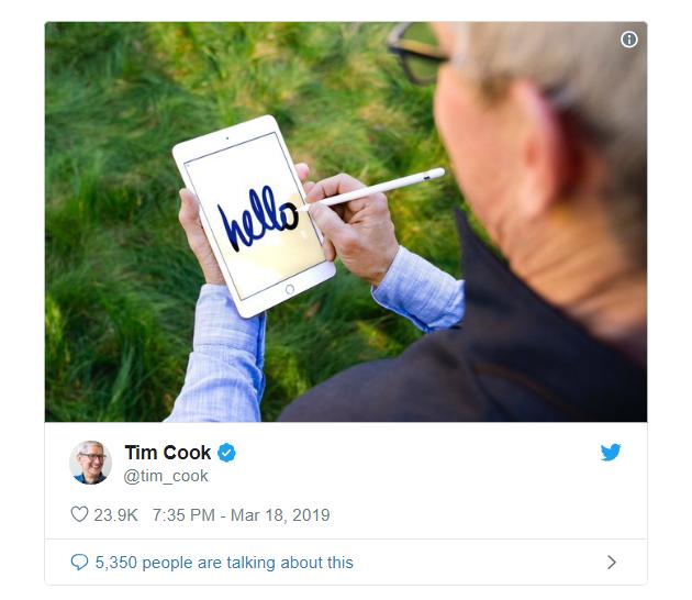 Tim Cook vừa khoe iPad mini 5 và Apple Pencil, dân tình đã kịp chế meme - Ảnh 1.