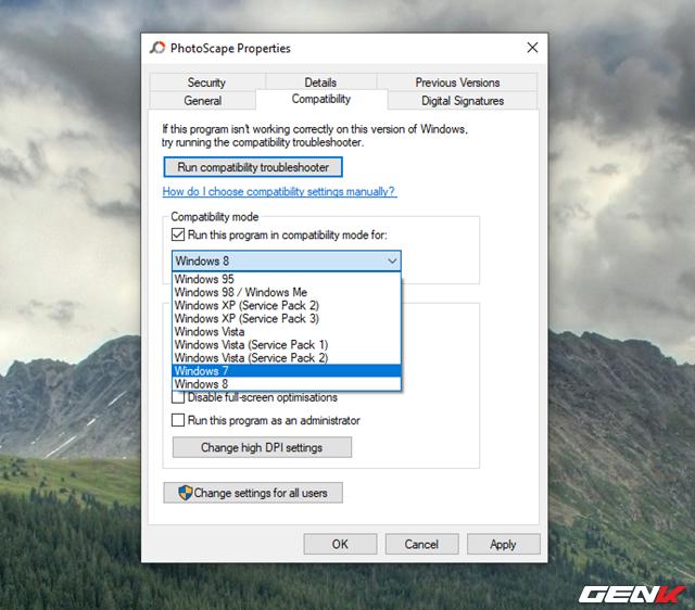 5 Mẹo đơn giản giúp bạn có thể chạy các phần mềm và game cũ trên Windows 10 - Ảnh 11.