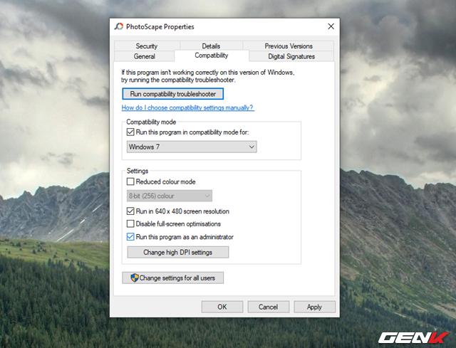 5 Mẹo đơn giản giúp bạn có thể chạy các phần mềm và game cũ trên Windows 10 - Ảnh 12.