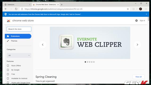 Cách cài đặt các tiện ích mở rộng Chrome cho trình duyệt Microsoft Edge mới - Ảnh 10.