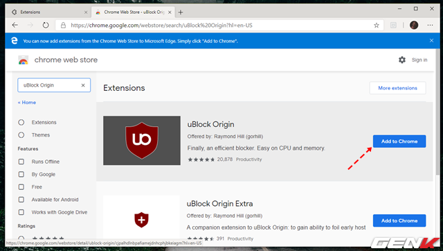 Cách cài đặt các tiện ích mở rộng Chrome cho trình duyệt Microsoft Edge mới - Ảnh 11.