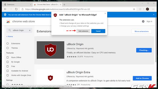 Cách cài đặt các tiện ích mở rộng Chrome cho trình duyệt Microsoft Edge mới - Ảnh 12.