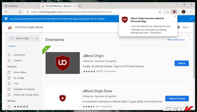 Cách cài đặt các tiện ích mở rộng Chrome cho trình duyệt Microsoft Edge mới - Ảnh 13.