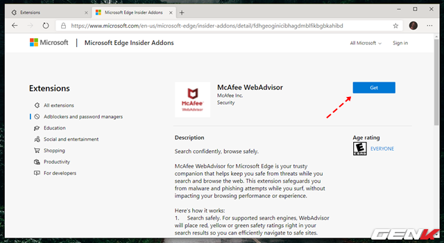 Cách cài đặt các tiện ích mở rộng Chrome cho trình duyệt Microsoft Edge mới - Ảnh 4.