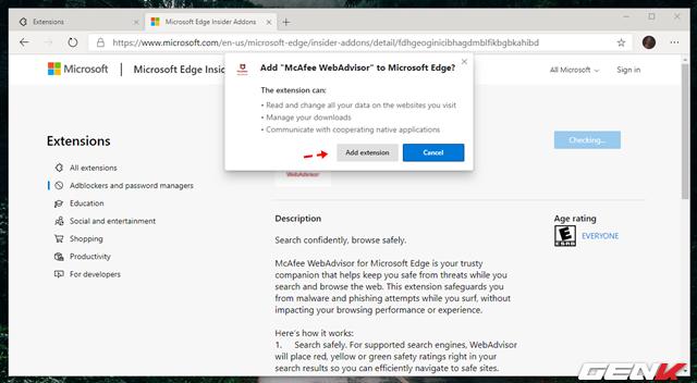 Cách cài đặt các tiện ích mở rộng Chrome cho trình duyệt Microsoft Edge mới - Ảnh 5.