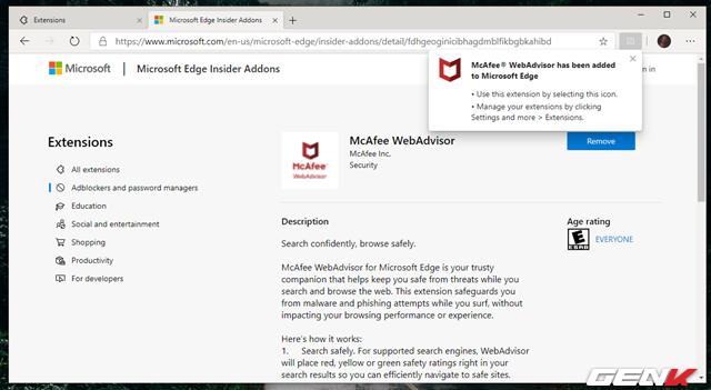 Cách cài đặt các tiện ích mở rộng Chrome cho trình duyệt Microsoft Edge mới - Ảnh 6.