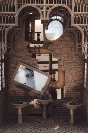 Sinh viên đại học kiến trúc thiết kế lại thế giới Harry Potter, còn đẹp hơn cả phim - Ảnh 8.