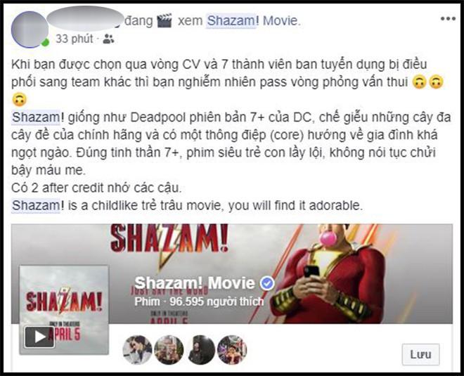 Khán giả Việt sau suất chiếu sớm phát cuồng vì Shazam: Phim siêu anh hùng lầy lội nhất từ trước đến nay - Ảnh 2.