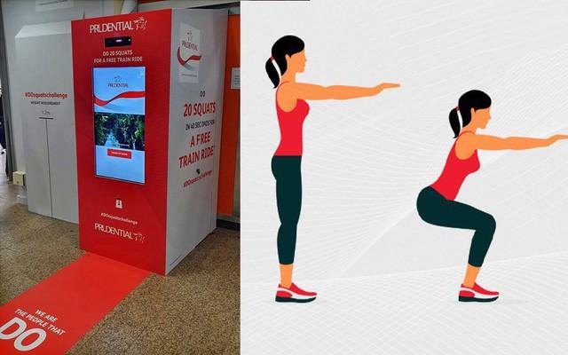 Sướng như dân Singapore: Vừa có sức khỏe vừa được đi tàu điện ngầm miễn phí chỉ với 20 lần squat - Ảnh 1.