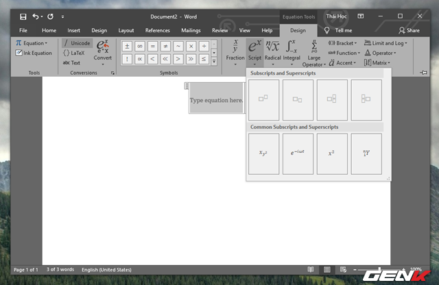 Hướng dẫn cách viết công thức Hóa học trong Microsoft Word - Ảnh 8.