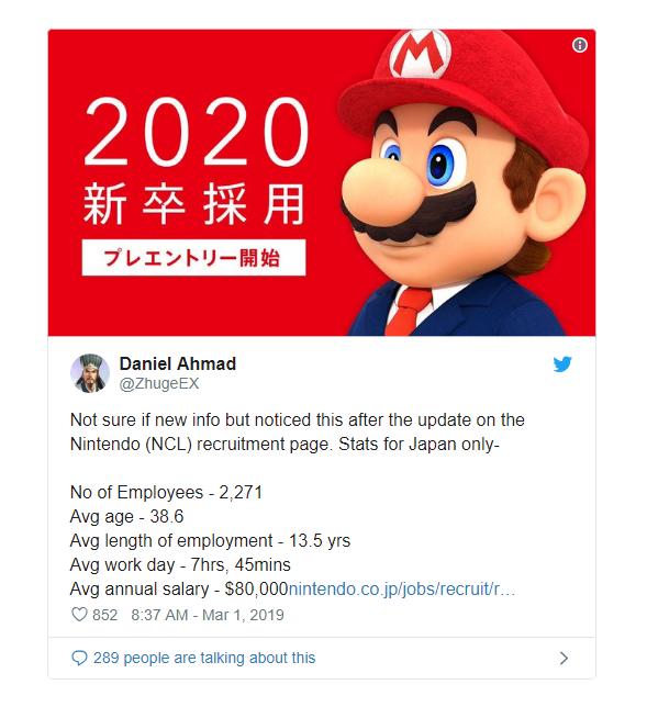 Nhân viên Nintendo Nhật Bản có mức lương trung bình 1,87 tỷ đồng, không phải làm việc đến 8 tiếng - Ảnh 1.