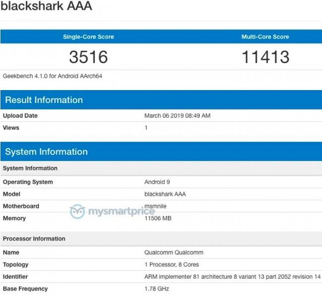 Smartphone chơi game Xiaomi Black Shark 2 xuất hiện trên Geekbench, Snapdragon 855, 12GB RAM - Ảnh 1.