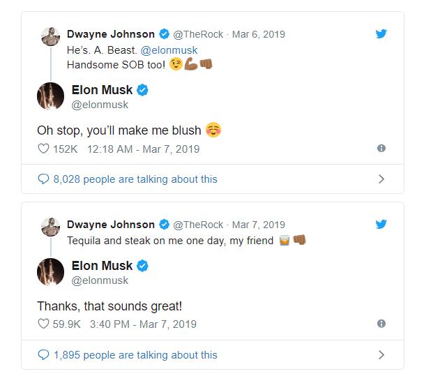 Dùng meme để trêu nhau, Elon Musk tự dưng được The Rock khen đẹp trai và bao ăn nhậu - Ảnh 4.