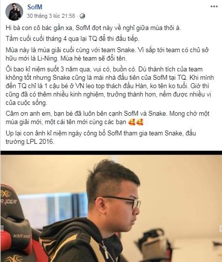 LMHT: SofM xác nhận Snake Esports sẽ đổi tên, chủ mới là đại thiếu gia không thua gì Vương Tư Thông - Ảnh 1.