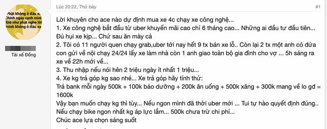 """Tài xế chạy taxi công nghệ phơi bày thực tế khắc nghiệt: Ngày kiếm 1 triệu đồng nhưng chi phí lên tới 1,3 triệu, ai vào sau đều """"ăn mày cả"""" - Ảnh 2."""