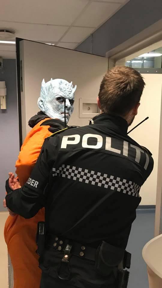 Chưa kịp lộ mặt trong tập 1 mùa cuối, Night King đã bị cảnh sát bắt vì phá hoại của công - Ảnh 1.