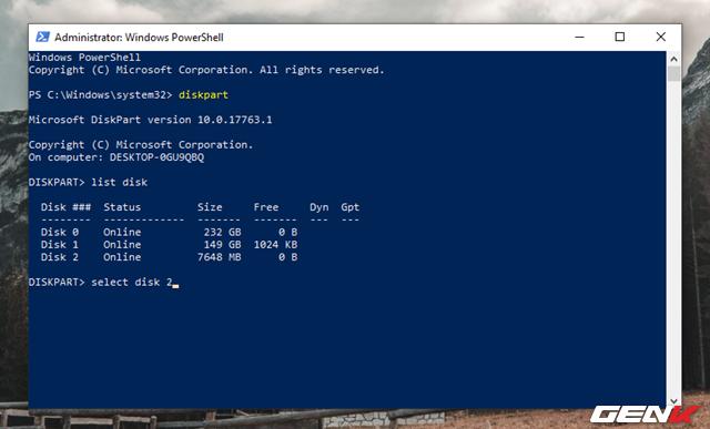 """Cách format lại USB bị lỗi """"write protected"""" để tiếp tục sử dụng - Ảnh 7."""