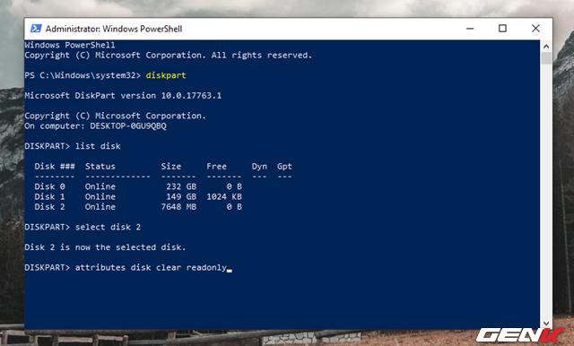 """Cách format lại USB bị lỗi """"write protected"""" để tiếp tục sử dụng - Ảnh 8."""