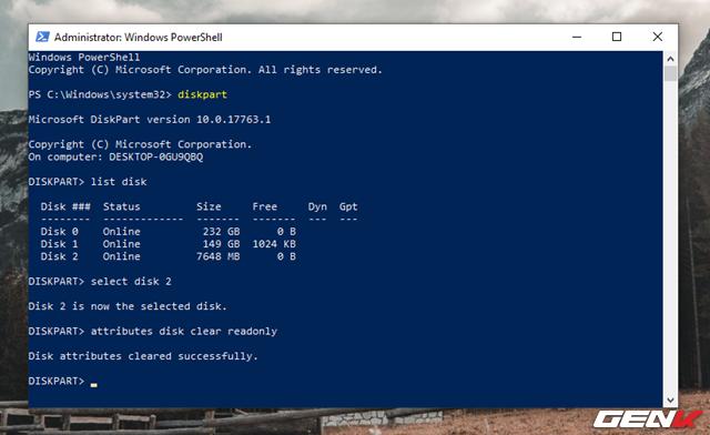 """Cách format lại USB bị lỗi """"write protected"""" để tiếp tục sử dụng - Ảnh 9."""