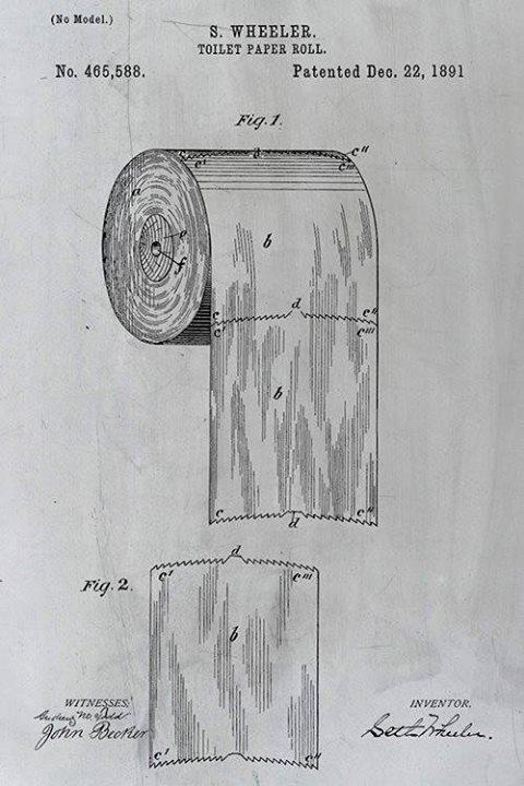 Bằng sáng chế 128 năm tuổi này tiết lộ cách thích hợp để treo giấy vệ sinh - Ảnh 1.