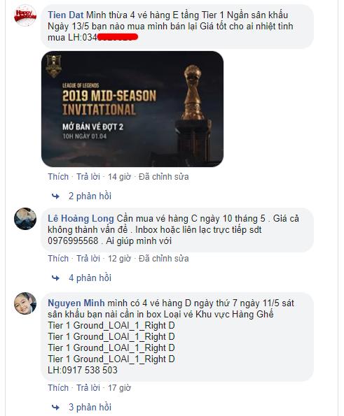 LMHT: Chưa kịp vui vì MSI 2019 tổ chức ở VN, game thủ đã phải đối mặt với nạn phe vé - Ảnh 3.
