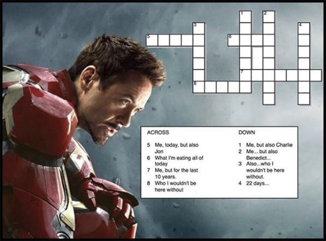 Mừng sinh nhật chất như Iron Man: Tặng fan ô chữ đố vui không có thưởng! - Ảnh 1.