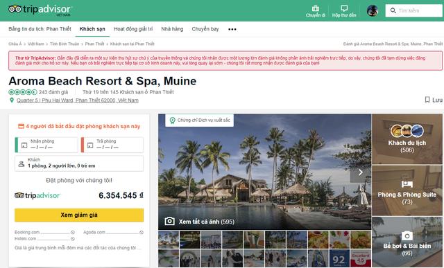 TripAdvisor khóa đánh giá của Aroma Resort vì cho rằng các đánh giá này không phản ánh trải nghiệm trực tiếp - Ảnh 2.