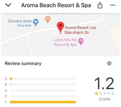 Aroma Resort bị đổi tên thành Aroma Resort Lừa Đảo khách 2 tr và nhận hơn 3.000 đánh giá 1 sao trên Google sau video của Khoa Pug - Ảnh 3.