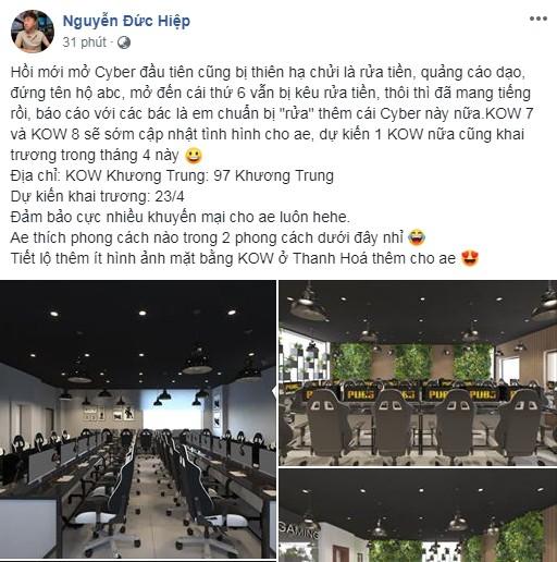 Hai năm trời mang tiếng rửa tiền, quảng cáo dạo, KingOfWar đáp trả hùng hồn bằng tuyên bố tiếp tục khai trương cơ sở mới - Ảnh 1.
