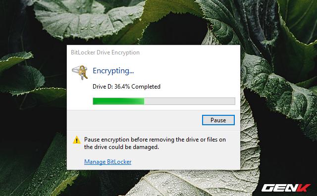 Cách sử dụng tính năng đặt password để bảo vệ dữ liệu trên USB có sẳn ở Windows 10 - Ảnh 10.