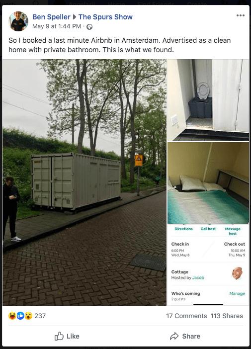 Thuê phòng Airbnb 3 triệu rưởi, du khách được ngay nhà container chật hẹp bẩn thỉu - Ảnh 1.