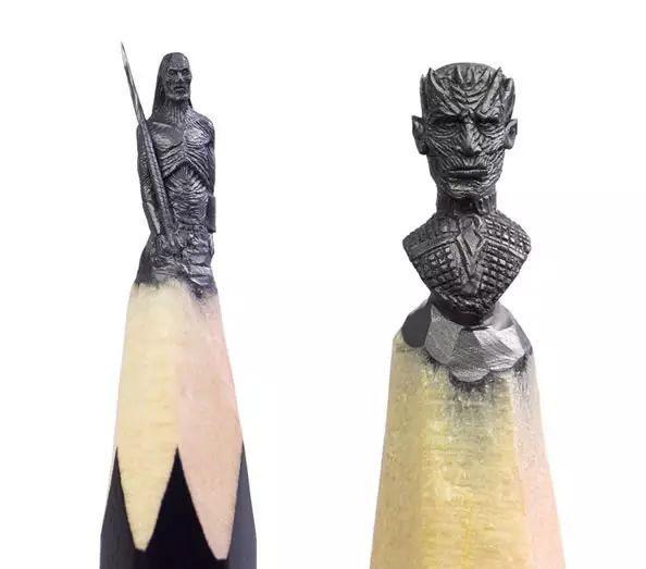Thanh niên khéo tay ngồi đẽo ngòi bút chì thành bộ gia huy Game of Thrones siêu nhỏ - Ảnh 11.