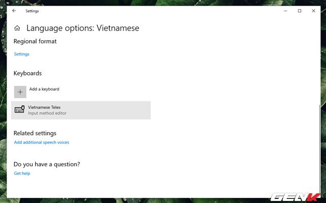 Bạn sẽ không cần cài thêm bộ gõ tiếng Việt trên Windows 10 May 2019 làm gì nữa vì nó đã có sẳn - Ảnh 10.