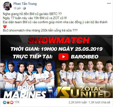 LMHT: Thầy Ba rủ showmatch với team Boba Marines cũ, QTV lập tức vào chốt kèo cạo lông mày cho sôi động - Ảnh 2.