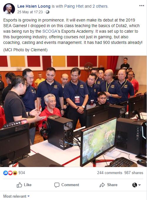 Thủ tướng Singapore Lý Hiển Long đánh Dota 2, bày tỏ sự ủng hộ nền công nghiệp Esport nước nhà - Ảnh 1.