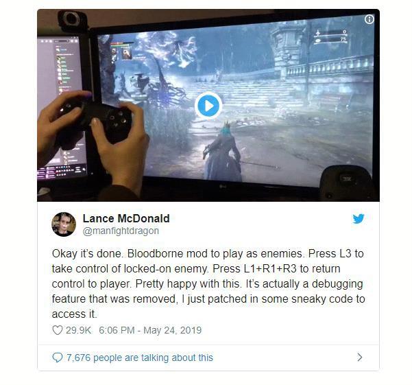 Xuất hiện bản hack giúp điều khiển tất cả các boss trong tựa game Bloodborne - Ảnh 1.