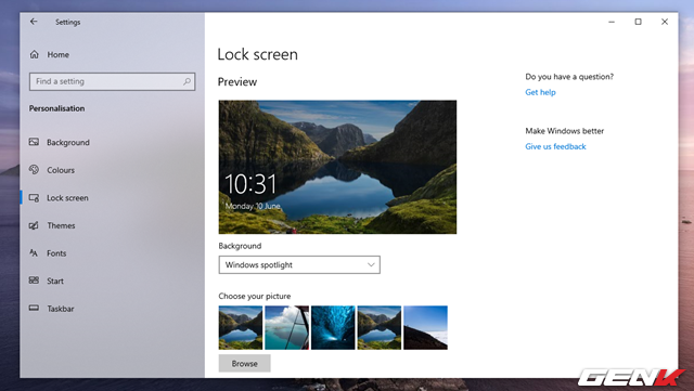 Cách khắc phục lỗi Windows Spotlight ngưng làm việc trong Windows 10 May 2019 - Ảnh 1.