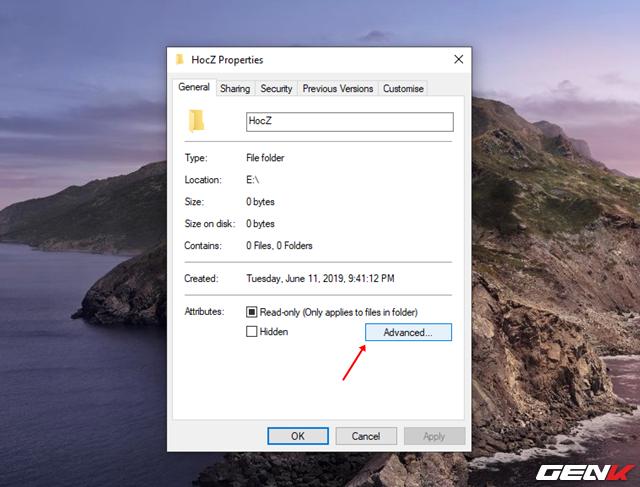 Cách sử dụng tính năng mã hóa EFS cho thư mục và tập tin trên Windows 10 May 2019 - Ảnh 3.