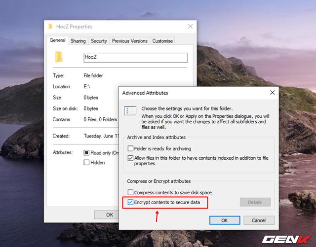 Cách sử dụng tính năng mã hóa EFS cho thư mục và tập tin trên Windows 10 May 2019 - Ảnh 4.