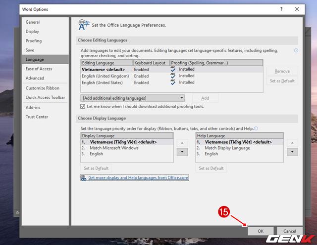 Cách thay đổi ngôn ngữ hiển thị của Microsoft Office 2019 - Ảnh 14.